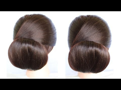 Short hair styles - how to make low chignon hair bun hairstyles juda  how to make a bun  short hairstyles  hairstyle