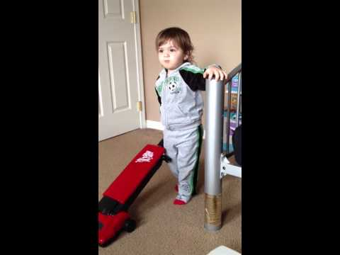 Two Year Old Learning How To Say Vacuum
