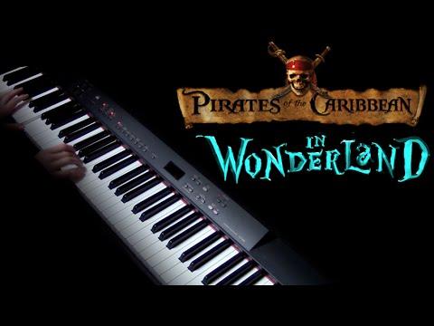 Pirates of the Caribbean/Alice in Wonderland piano cover (видео)