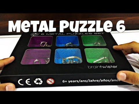 My New 6 Metal Puzzles Set