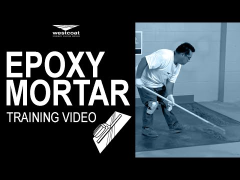 westcoat epoxy mortar system training video countertops overlay or