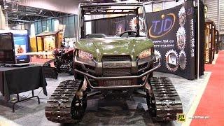 10. 2015 Polaris Ranger 570 EFI with TJD Track Kit - Walkaround - 2015 Salon Chasse Peche Quebec