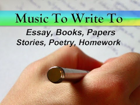 songs to listen to while writing