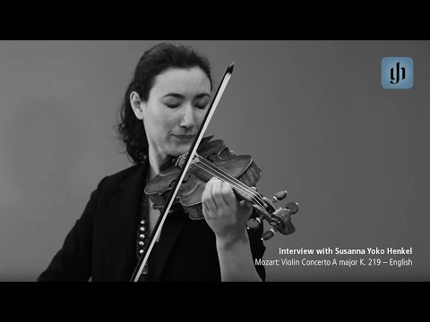 モーツアルト Violin Concerto A major K. 219 - Japanese - interview with Susanna Yoko Henkel