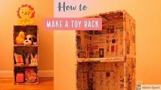 Make a Cardboard Rack / Shelf  in minutes