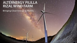 54MW PILILLA RIZAL WIND FARMALTERNERGY Wind One CorporationMunicipality of Pililla, Province of Rizal, PhilippinesTimelapse documentation of construction of the Wind Farm closest to Metro Manila. Featuring 27 units of Gamesa G90-2.0 MW turbines.Prepared for Alternergy Wind One Corporation. This presentation represents the author's own edit. It is not the approved version of Alternergy.Coverage commenced in August 2014 just before mobilization to start construction. Turbine components (blades, nacelles and tower segments) arrived last quarter of 2014 at the Manila ports.These components were transferred to Pililla via the busy streets of Manila and the winding roads up the mountains of Rizal. Significant stages of the construction were covered: from Foundation Preparation up to Tower Erection.Hundreds of thousand still shots taken using CANON 5D Mark3 with various Canon lenses. Canon C100 used for all videos. Radio controlled hexacopter drone camera for all aerial footage.Watch in 720p HD and with sounds turned loud.Voice over by Vincent S. Perez, President & CEO of ALTERNERGY Wind One Corporation.All rights reserved. Please do not use or copy without the author's permission. bongbajo@yahoo.com