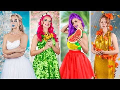 Four Seasons / Winter Girl, Spring Girl, Summer Girl and Autumn Girl
