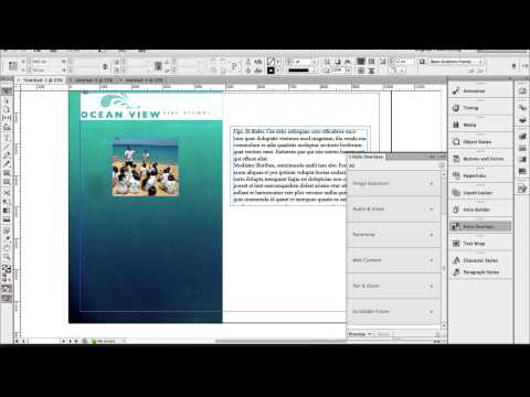Scrolling Text Frame - Adobe Indesign And Dps