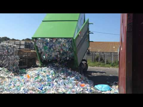 Portable Compactor - Tipping 15,000 PET Bottles