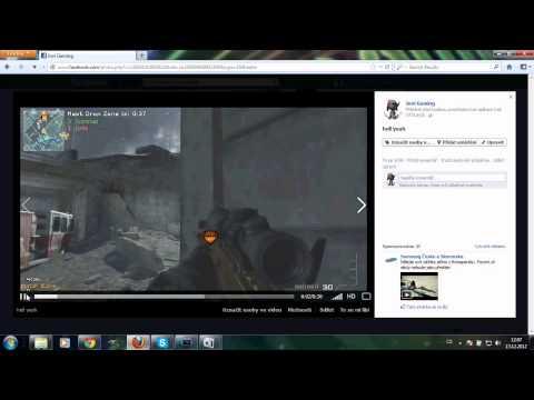 Jak nahrávat mw3 videa z PS3 na YT přes FACEBOOK
