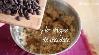 Cómo hacer galletas de chispas de chocolate