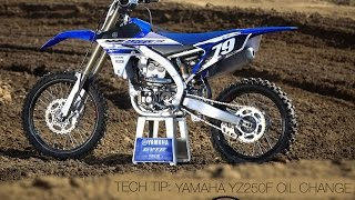 6. Tech Tip: Changing Oil On A Yamaha YZ250F - MotoUSA