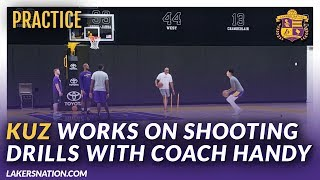 Lakers Practice Videos: Kuz Works With Coach Phil Handy On Shooting Drills by Lakers Nation
