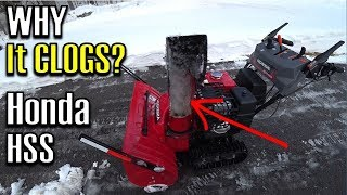 8. HSS Chute Clogging with Slush? | Honda HSS1332ATD Track Drive Snowblower | The WHY it Clogs Vlog!