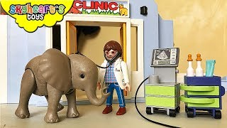The animals are sick! And they are seeking help from Skyheart's Playmobil Animal Clinic. They have a professional doctor, a nurse and medical machines with tools & medicines for the sick/injured animals. We have so many patients today, like the horse, elephant, giraffe, zebra, dogs, lions, rabbits, cats, birds... they all came from the safari zoo to visit the doctor in the animal hospital.This playset is from Playmobil Animal Clinic, perfect for animal toys for kids, children and toddler.[CLICK HERE] Subscribe to our channel for more fun and toyshttp://youtube.com/c/SkyheartsToysChannel?sub_confirmation=1