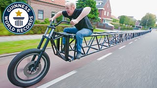 Setting themselves a challenge to get into the Guinness World Records book, members of the Mijl Van Mares Werkploeg (Netherlands) built an incredibly long ...