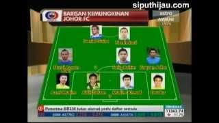 Perpindahan pemain ke Pasukan Johor 2013