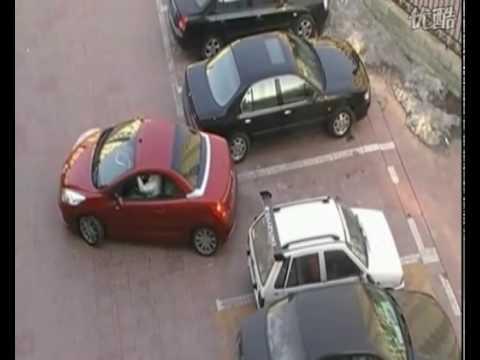 這位紅車女子在倒退時「白車竟然欺負她搶佔停車位」,但下一秒她的神反擊讓大家都讚翻天!