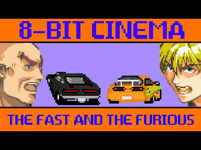 the fast and the furious 8 bit cinema. Black Bedroom Furniture Sets. Home Design Ideas