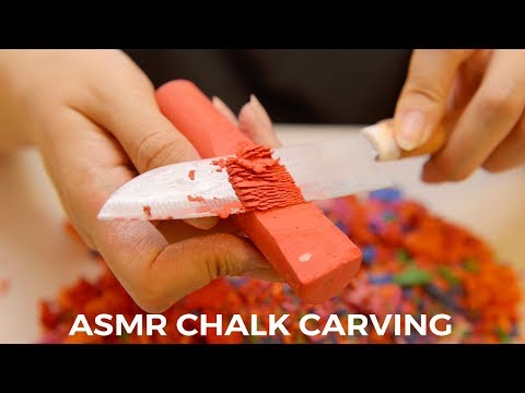 ASMR Chalk Carving and Cutting Sounds (No Talking)