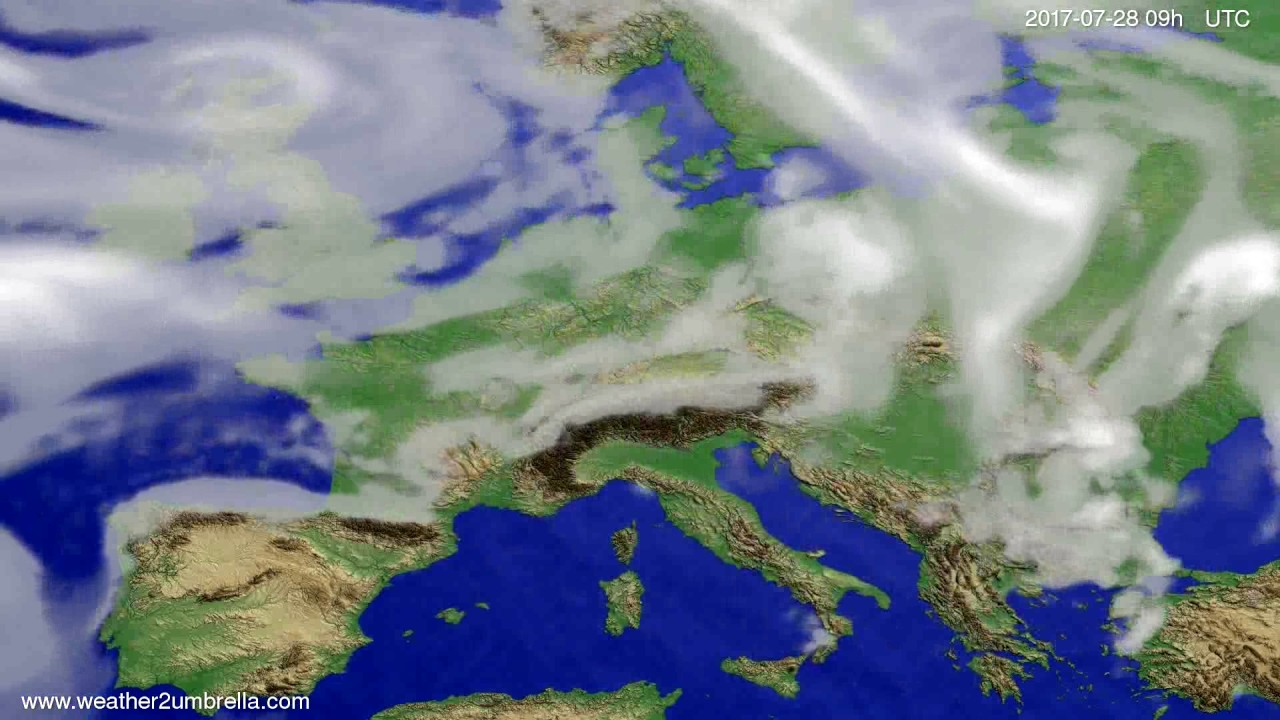 Cloud forecast Europe 2017-07-24