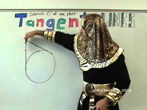 tangent - Welcome to the mathemaGYPTIAN's lesson on tangent lines! Wearing full eye makeup and costume, we cover the rules for tangent lines to circles, and solve four...