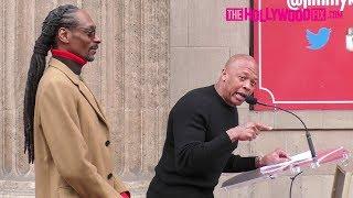 Video Dr. Dre Speaks At Snoop Dogg's Hollywood Walk Of Fame Ceremony 11.19.18 MP3, 3GP, MP4, WEBM, AVI, FLV Desember 2018