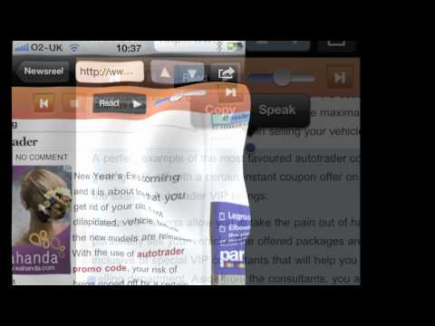 Video of RSS Voice Reader