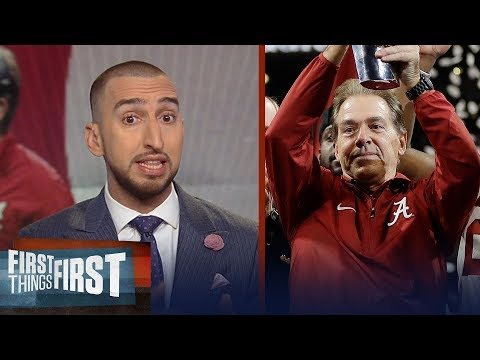 Nick Wright reacts to Nick Saban's 5th title for the Alabama Crimson Tide   FIRST THINGS FIRST