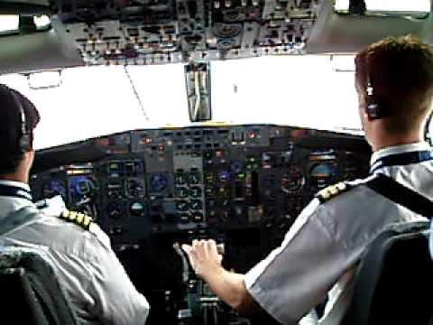 Landing with strong crosswinds, rain and heavy turbulence