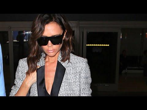 Victoria Beckham Looking Razor Sharp At LAX