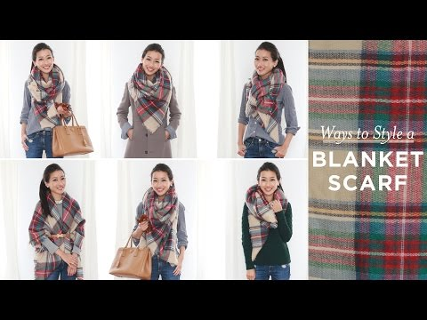 how to belt blanket scarf