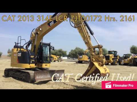 CATERPILLAR TRACK EXCAVATORS 314E LCR equipment video k03q37GRk0Y