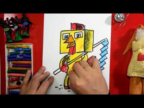 Cock Minecraft How to draw a minecraft character art for kids