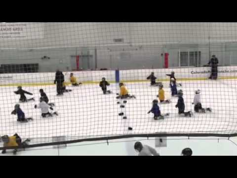 Squirt ice hockey power skating drill