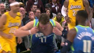 Luka Doncic Rips Jersey After Missing Free Throws | Mavericks vs. Lakers NBA Highlights