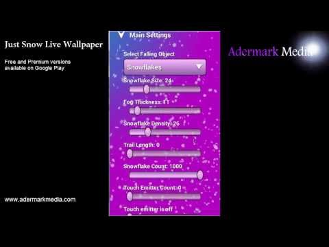 Video of Just Snow Live Wallpaper