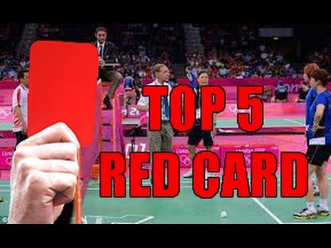 TOP 5 BADMINTON RED CARD!