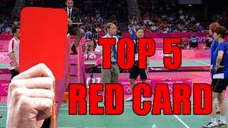 Video TOP 5 BADMINTON RED CARD! MP3, 3GP, MP4, WEBM, AVI, FLV November 2018