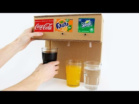 How to Make Coca Cola Soda Fountain Machine with 3 Different Drinks at Home - Thời lượng: 3:53.