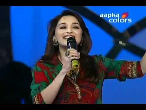 Madhuri Dixit singing Aja Nachle nachle