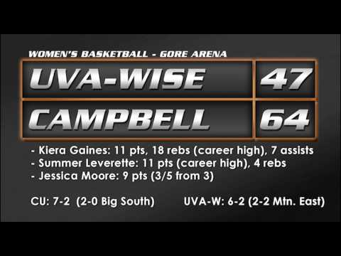 WBB vs. UVa-Wise - 12/18/13