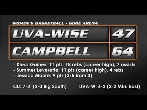 WBB vs. UVa-Wise - 12/18/13