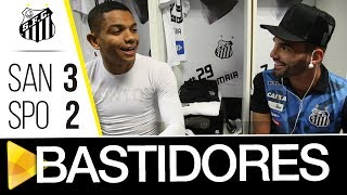 Confira os bastidores da vitória contra o São Paulo por 3 a 2 em partida válida pelo Campeonato Brasileiro 2017.Inscreva-se na Santos TV e fique por dentro de todas as novidades do Santos e de seus ídolos! http://bit.ly/146NHFUConheça o site oficial do Santos FC: www.santosfc.com.brCurta nossa página no facebook: http://on.fb.me/hmRWEqSiga-nos no Instagram: http://bit.ly/1Gm9RCSSiga-nos no twitter: http://bit.ly/YC1k82Siga-nos no Google+: http://bit.ly/WxnwF8Veja nossas fotos no flickr: http://bit.ly/cnD21USobre a Santos TV: A Santos TV é o canal oficial do Santos Futebol Clube. Esteja com os seus ídolos em todos os momentos. Aqui você pode assistir aos bastidores das partidas, aos gols, transmissões ao vivo, dribles, aprender sobre o funcionamento do clube, assistir a vídeos exclusivos, relembrar momentos históricos da história com Pelé, Pepe, e grandes nomes que só o Santos poderia ter.Inscreva-se agora e não perca mais nenhum vídeo! www.youtube.com/santostvoficial-------------------------------------------------------------** Subscribe now and stay connected to Santos FC and your idols everyday!http://bit.ly/146NHFUVisit Santos FC official website: www.santosfc.com.brLike us on facebook: http://on.fb.me/hmRWEqFollow us on Instagram: http://bit.ly/1Gm9RCSFollow us on twitter: http://bit.ly/YC1k82Follow us on Google+: http://bit.ly/WxnwF8See our photos on flickr: http://bit.ly/cnD21UAbout Santos TV: Santos TV is the official Santos FC channel. Here you can be with your idols all the time. Watch behind the scenes, goals, live broadcasts, hability skills, learn how the club works, exclusive videos, remember historical moments with Pelé, Pepe and all of the awesome players that just Santos FC could have. Subscribe now and never miss a video again! www.youtube.com/santostvoficial
