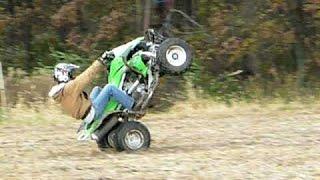 6. 2008 KAWASAKI KFX 450R Wheelie onto Trailer