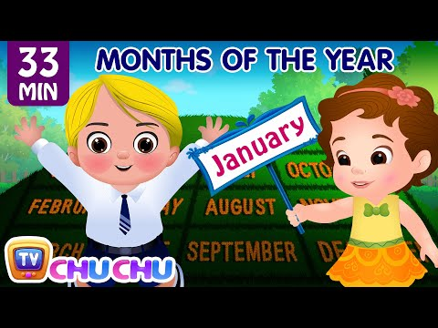 Months of the Year Song - January, February, March and More Nursery Rhymes for Kids by ChuChu TV (видео)