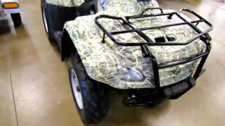 9. Nice used camo Suzuki Eiger 400 for sale at Romney Cycles! 1-866-766-1495