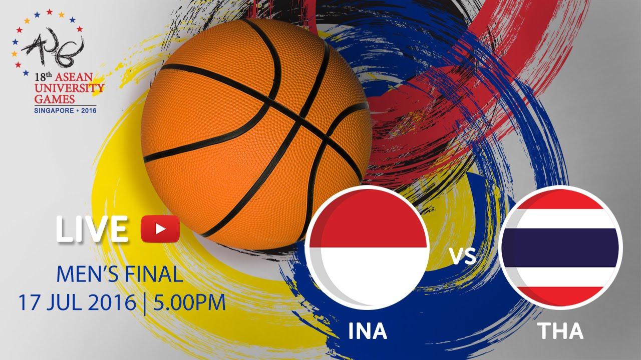 Basketball Men's Final Indonesia vs Thailand | 18th ASEAN University Games Singapore 2016