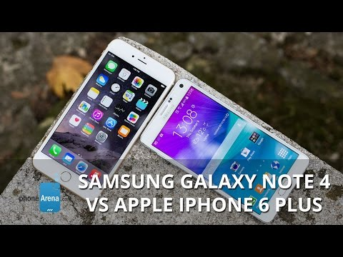samsung - For more details, check out our web site: http://www.phonearena.com/reviews/Samsung-Galaxy-Note-4-vs-Apple-iPhone-6-Plus_id3815 Nowhere else does the rivalry...