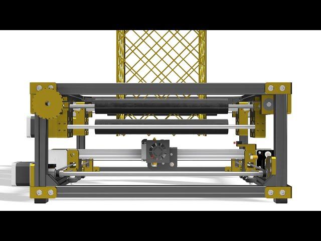 無限のZ軸を持つ3Dプリンタ